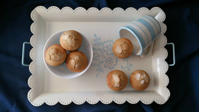 magdalenas muffins horchata naranja fruta confitada escarchada desayuno merienda postre brunch copete horno tradicional