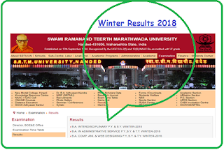 Nanded University Result Winter 2018