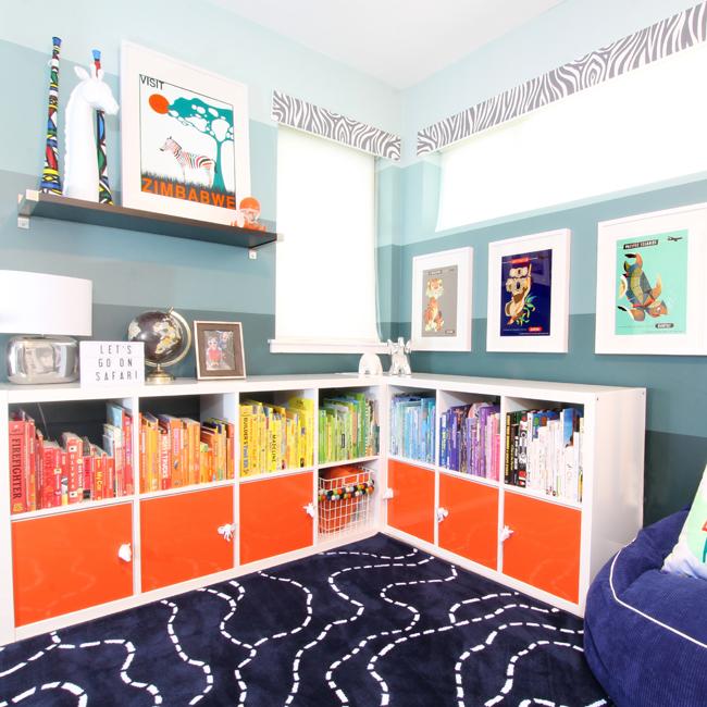 one room challenge} Shared Boys\' Bedroom Reveal | Blue i ...