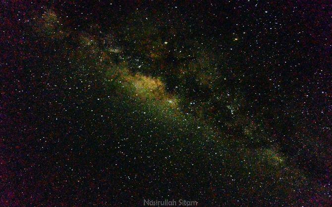 Memotret Milky Way dari pantai Hadirin