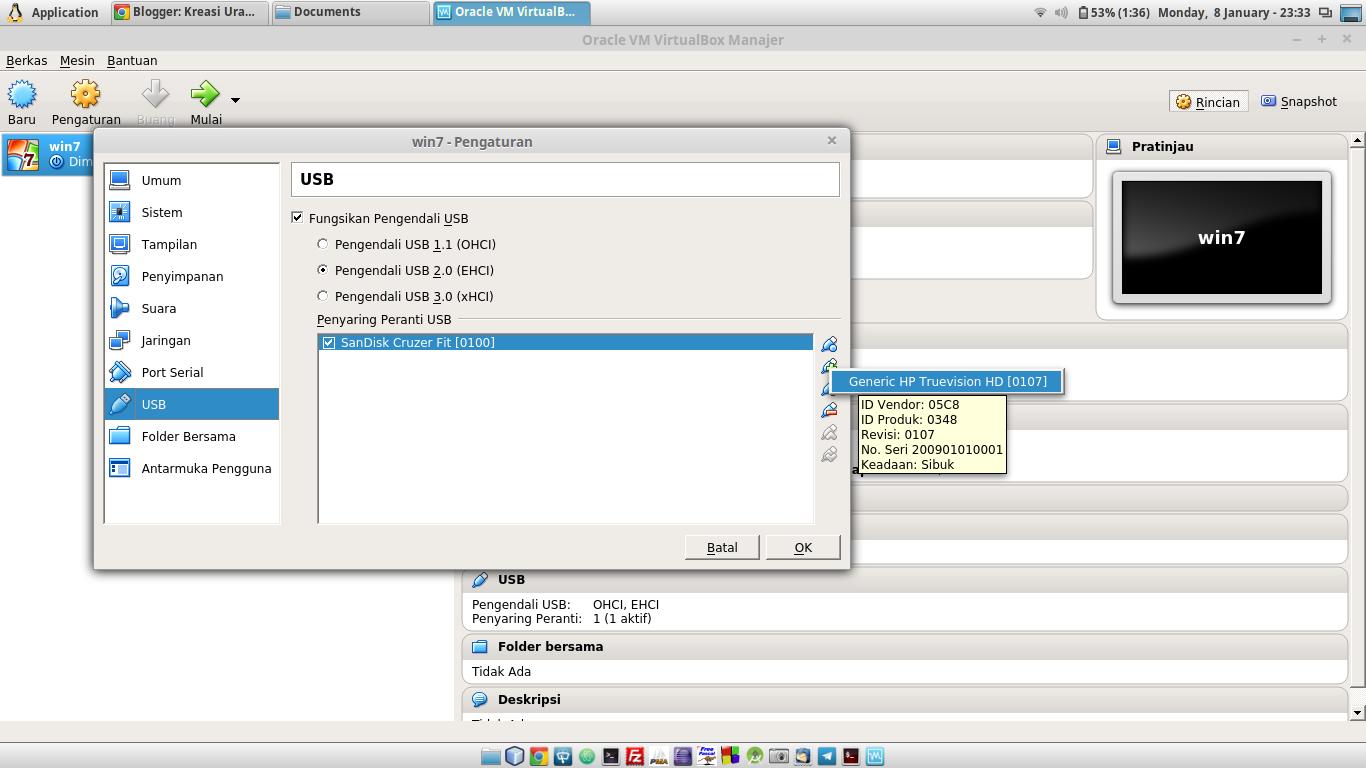 Mengatasi Flashdisk Tidak Terdeteksi di Virtual Box