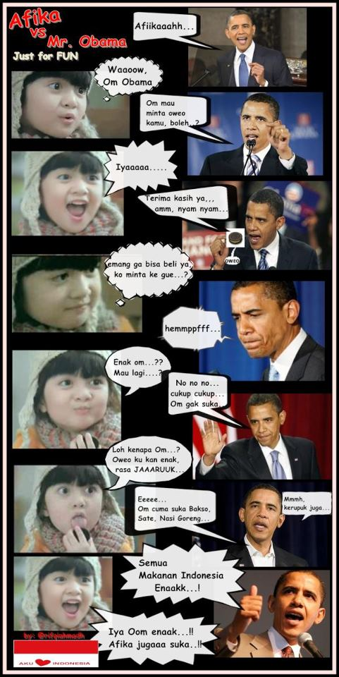 Komik Afika VS OBAMA