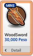 Wood Sword bisa dibeli dengan Peso Lost Saga Indonesia