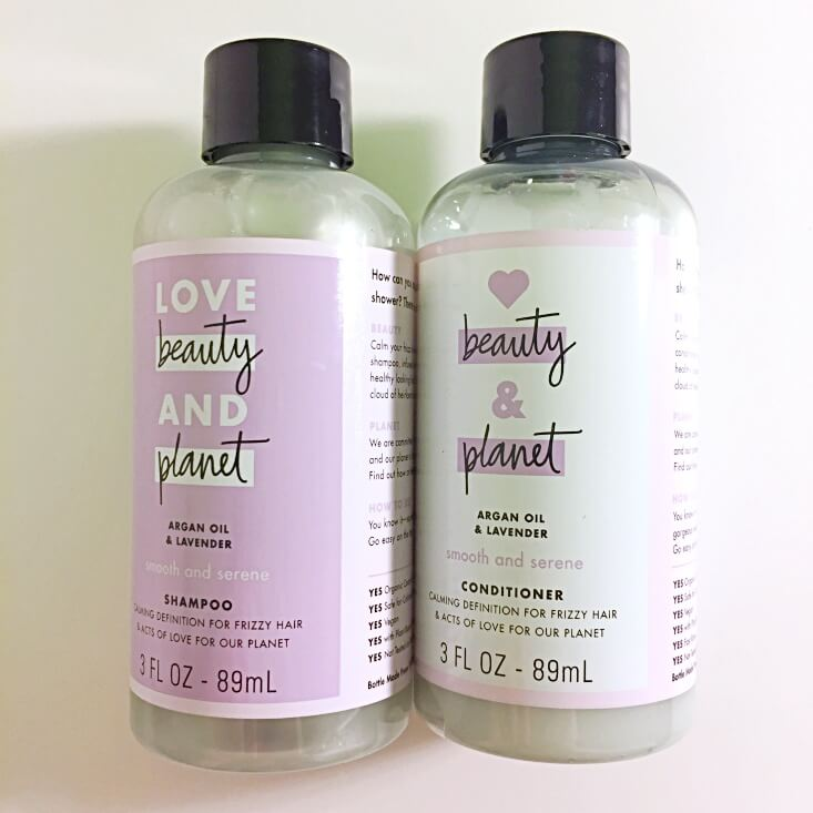 Love Beauty and Planet Argan Oil and Lavender Shampoo and Conditioner