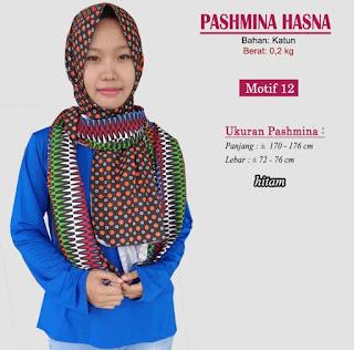 Pashmina monochrome murah bergaya modern dan trendy-hasna 12