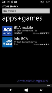 Menemukan BCA Mobile di Windows Store