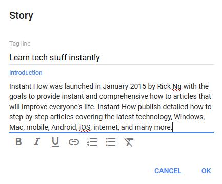 google plus story