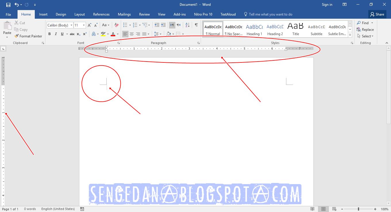 Menampilkan Rules dan Batas Crop Teks Microsoft Word