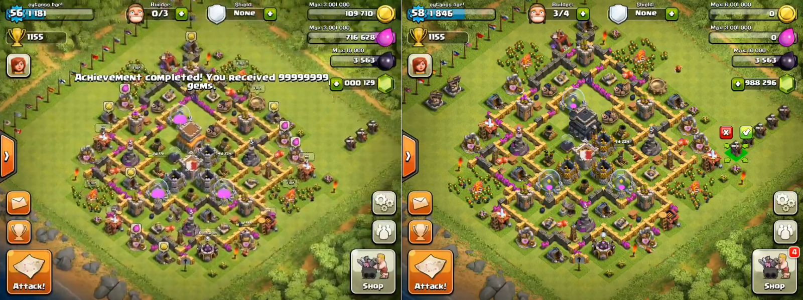 clash of clans hack proof pics
