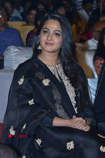 Actress Anushka Anushka Shetty Stills in Black Salwar Kameez at Om Namo Venkatesaya Audio Launch Event  0032.JPG