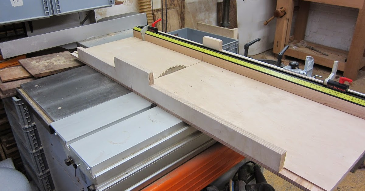 High End Table Saw Blades: David Barron Furniture: New Crosscut Sled