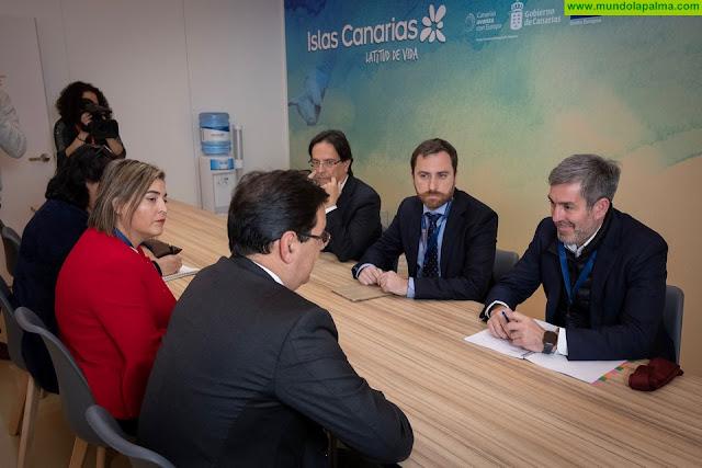 Fernando Clavijo analiza con el presidente de Easyjet y ALA la afección del Brexit en las conexiones aéreas entre el Reino Unido y las islas