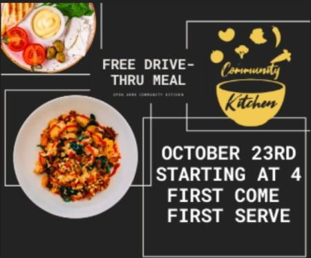 10-23 Free Drive-thru Meal 105 Smith Ave. Port Allegany