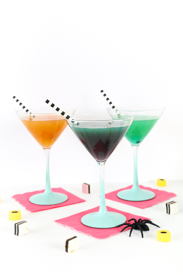 DIY Mad Scientist Laboratory Cocktails for Halloween party - Grown up Halloween - concoctions - Lab party - Cocktail recipe