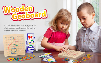 The Coogam Wooden Geoboard