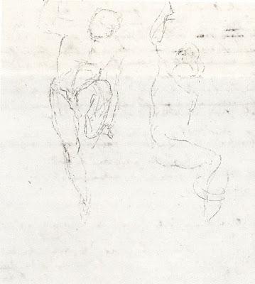 Winckelmann, Skizze Zweier Figuren Aus Der Laokoon Gruppe. Cologny /  Genève, Fondation Martin Bodmer, Lnv. W 89.