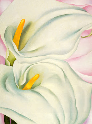 Georgia O' Keeffe : Two Calla Lilies on Pink Tate Moerd, exposition Londres 1017