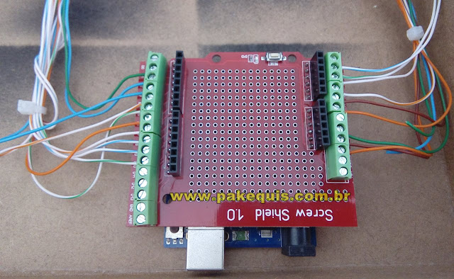 Arduino Uno com Screw Shield