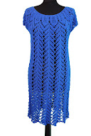 crochet blue dress tunic pattern