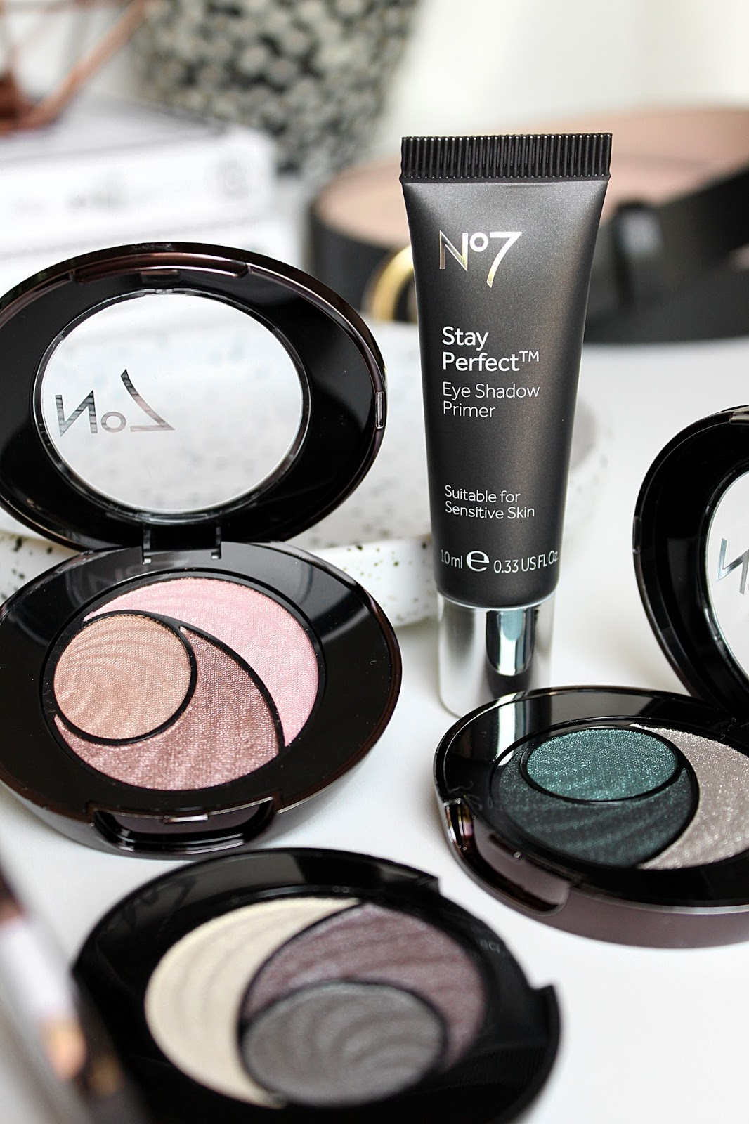 No7 Boots Stay Perfect Trio Eye Shadow Review
