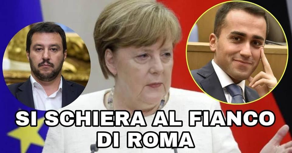 Immigrati: la Merkel si schiera con il Governo M5S-LEGA, UE non puo' lasciare da sola lìItalia! Guarda e diffondi
