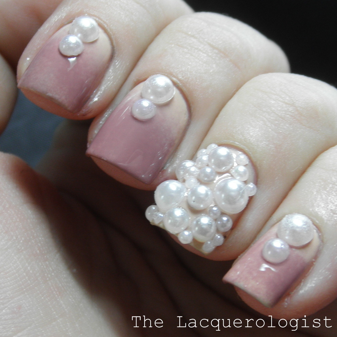Classy pearl nail art featuring tmart casual contrast classy pearl nail art featuring tmart prinsesfo Images