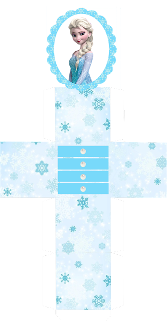 Frozen Cajas Marquesina para Imprimir Gratis.