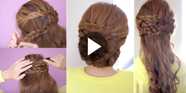 Learn - How To Create 2-In-1 Braided Hairstyle, See Tutorial