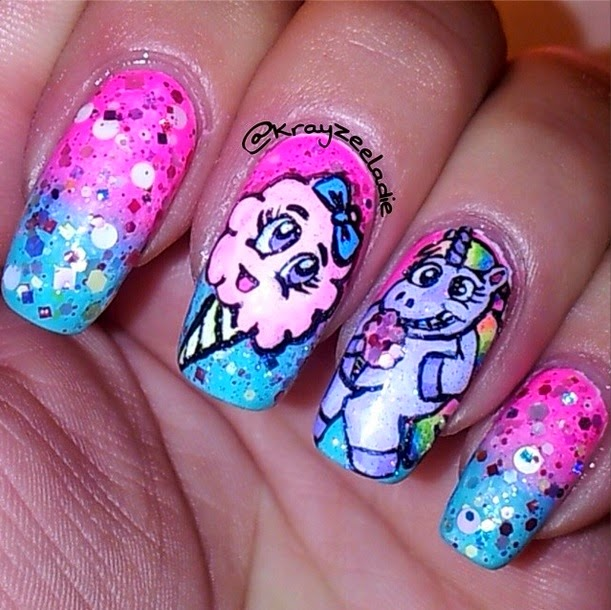 Cotton Candy Nail Color: Glitter Lambs: Unicorns Love Cotton Candy Glitter Topper