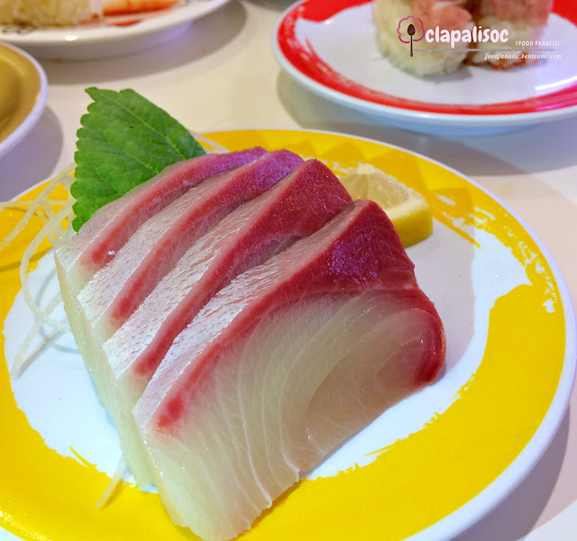 Yellow Tail Sashimi from Genki Sushi