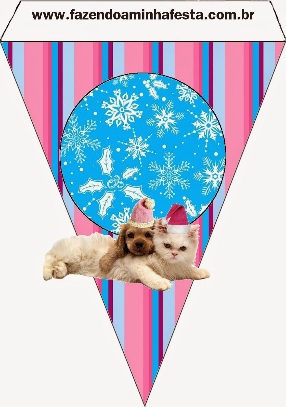 Perro y Gato en Navidad: Imprimibles Gratis para Fiestas. | Ideas y ...
