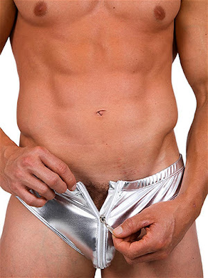 Pistol Pete Metallica Zip Front Brief Underwear Silver Detail Gayrado Online Shop