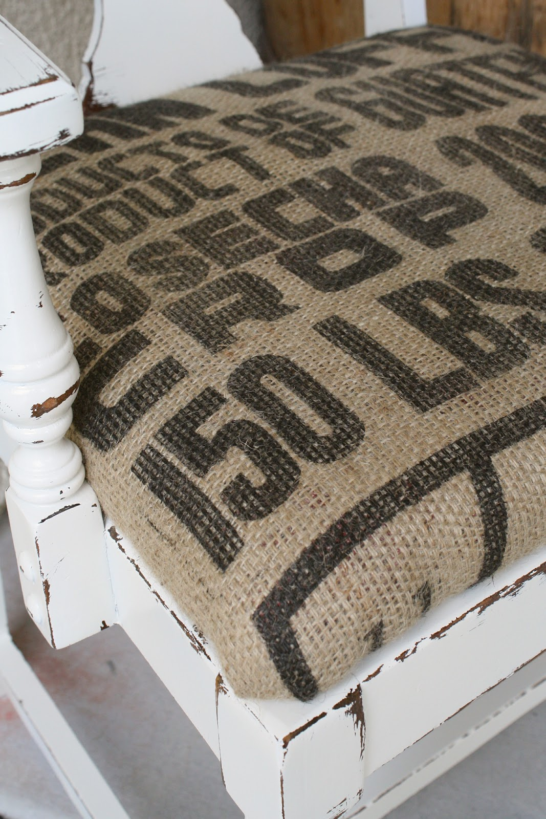 Burlap Chair Cushions Burlap Coffee Sack Chair