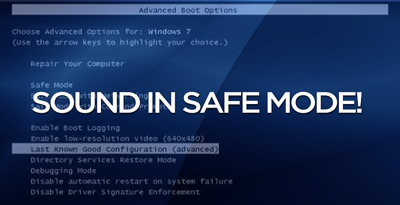 Start Windows Services in safe mode
