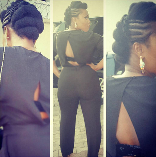 Uche Jombo Rocks A Black & White Jumpsuit For Reflections Premiere