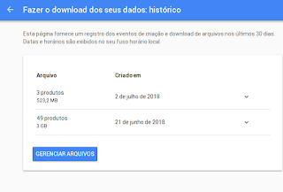 Fragmentando arquivos para download (Google Drive)