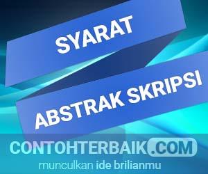 Syarat Abstrak Skripsi