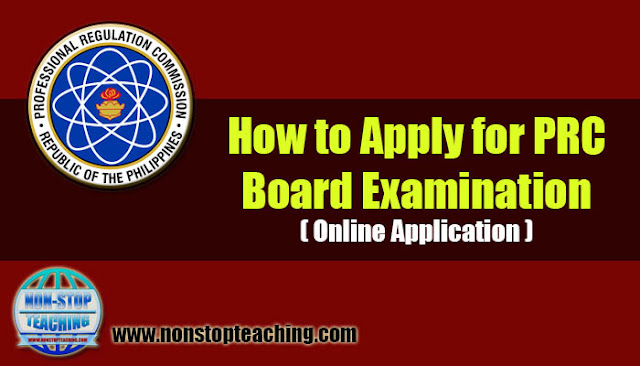 How to Apply for PRC Board Examination (Online Application)