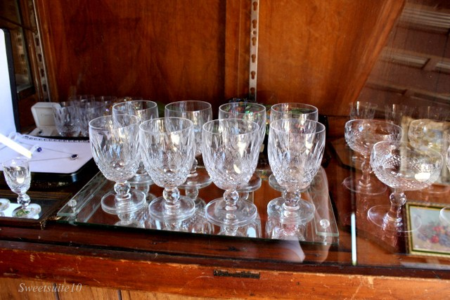 Waterford crystal goblets in the 'Colleen' Pattern