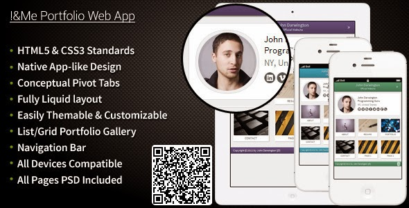 I Me Portfolio Web App (ThemeForest November Free File)