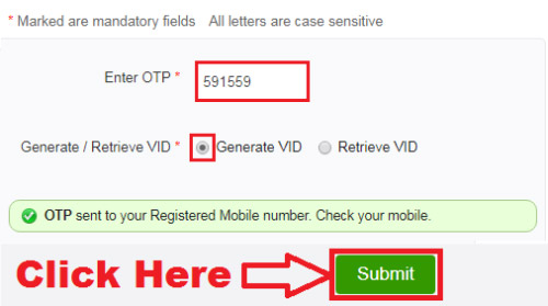 how to generate virtual id for aadhar