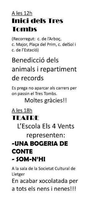 Esguard de Dona - Festa dels Tres Tombs 2017 - Inici dels Tres Tombs - Benedicció dels Animals - Repartiment de Records - Teatre