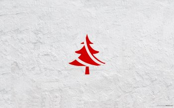 Wallpaper: Minimalist Christmas Tree