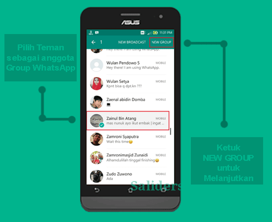 saliders, Cara membuat grup whatsapp sendiri, How to Create Group Whatsapp, Cara menghapus group Whatsapp, cara dan panduan untuk membuat akun wharsapp tanpa PC