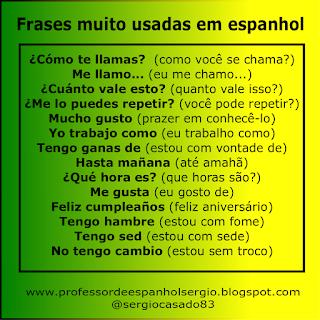 frases muito usadas em espanhol