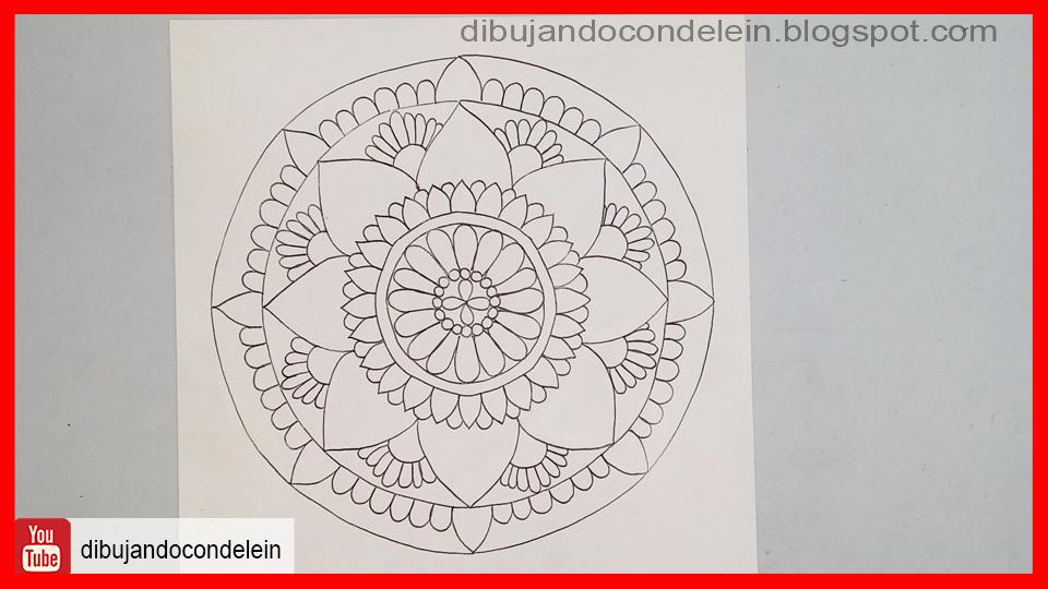 dibujando con delein como dibujar un mandala paso a paso 1