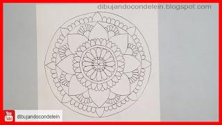 como dibujar un mandala paso a paso, como dibujar un mandala fácil, como dibujar un mandala sin compás, como dibujar un mandala