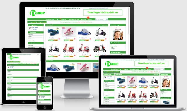Share template blogspot bán hàng responsive chuẩn seo
