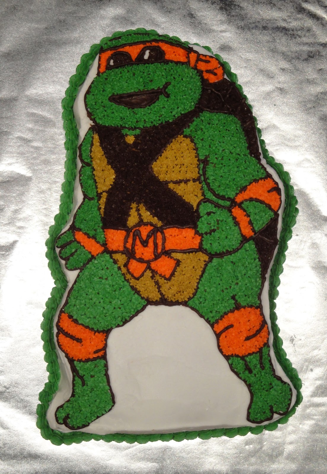 The Project Diary Teenage Mutant Ninja Turtle Cake