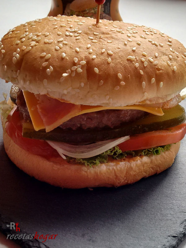 Hamburguesa casera fácil